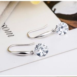 925 Silver Earrings With CZ Stone NEW